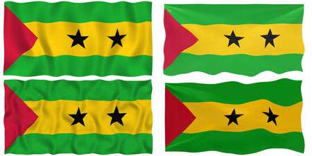 principe: Gran imagen de la bandera de Santo Tom� y Pr�ncipe