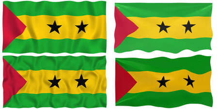 tome: Great Image of the Flag of Sao Tome and Principe