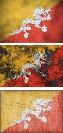 bhutan: Great Image of the Flag of bhutan