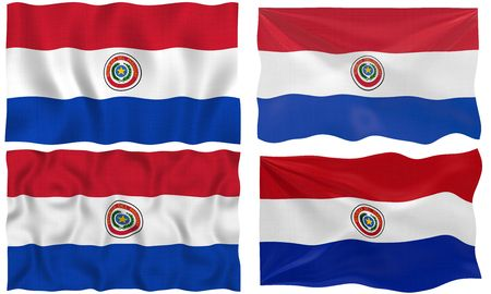 Great Image of the Flag of Paraguay photo