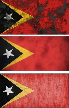 timor: Great Image of the Flag of East Timor Stock Photo