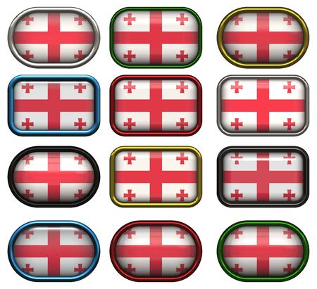 twelve buttons of the Great Image of the Flag of Georgia photo