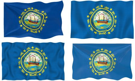 Great Image of the Flag of New Hampshire photo