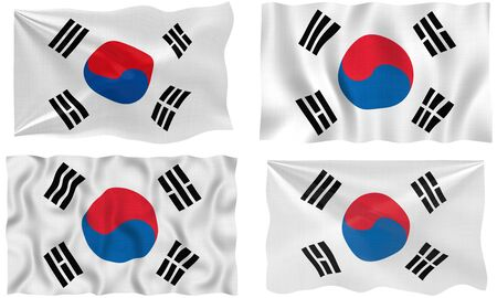 korean national: Great Image of the Flag of South Korea Stock Photo