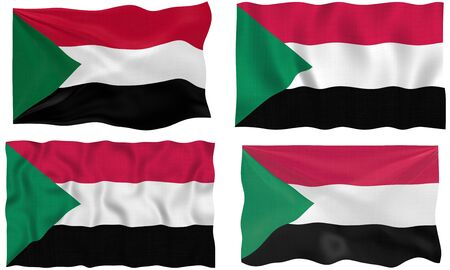 sudan: Great Image of the Flag of Sudan