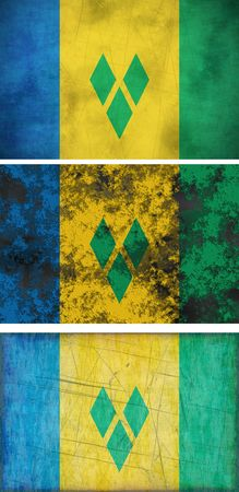 grenadines: Great Image of the Flag of Saint Vincent and the Grenadines Stock Photo