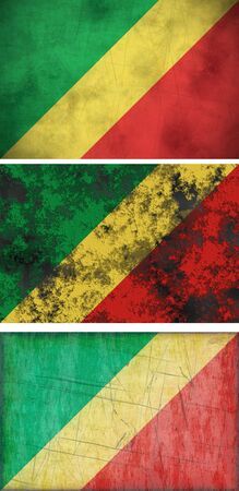 congo: Great Image of the Flag of the congo Stock Photo