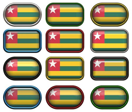 twelve buttons of the Great Image of the Flag of Togo photo