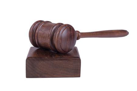 tribunal: image of a judges gavel isolated on white background Illustration