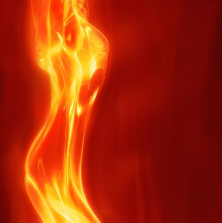 excellent abstract art image depicting  glowing female body fire theme