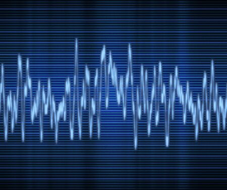 large excellent high tech audio sound wave  Vector