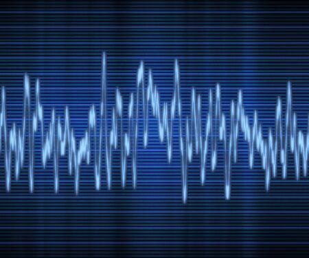 large excellent high tech audio sound wave Stock Vector - 6605274