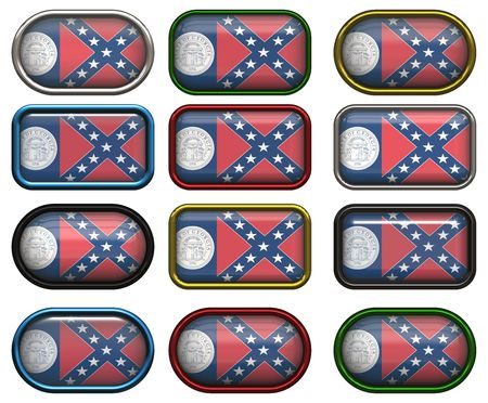 twelve buttons of the Flag of Georgia photo