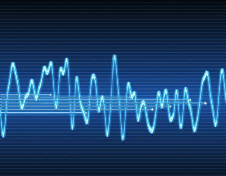 grote afbeelding van een elektronische sinus geluid of geluids golf