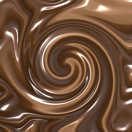delicious swirling melted dark and milk chocolate Vector