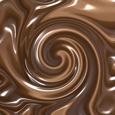 chocolate melt: delizioso vortice buio fusa e cioccolato al latte