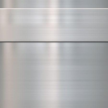 lamiera metallica: molto finemente spazzolato texture di sfondo metallica in acciaio con pannello  Vettoriali