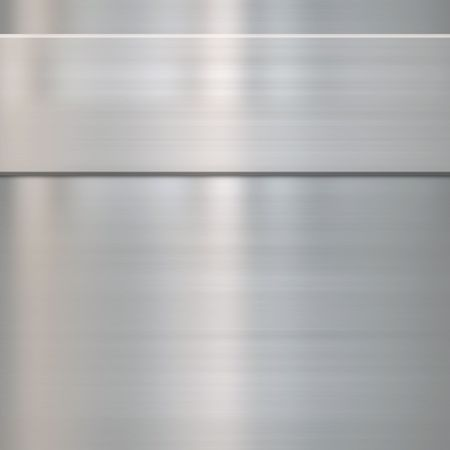 fabrication: very finely brushed steel metal background texture with panel