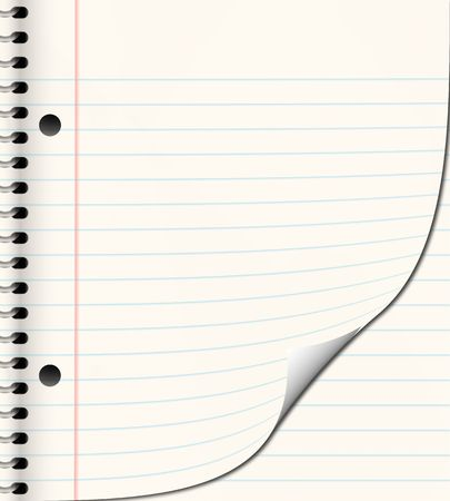 ruled: nice image of a book of ruled or lined paper