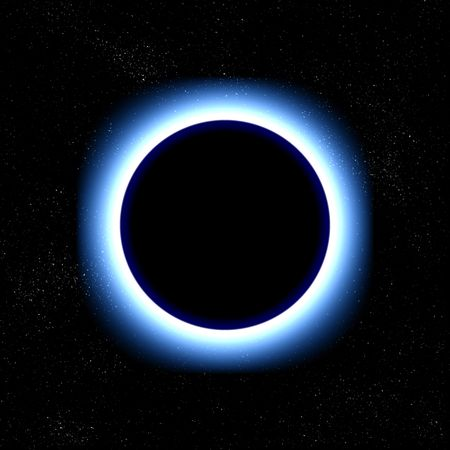 illustration of a total eclipse in space