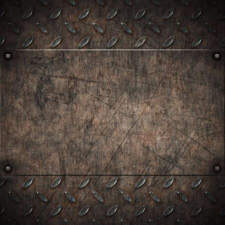 old grungy and rusty plate metal background Stock Photo - 6779312