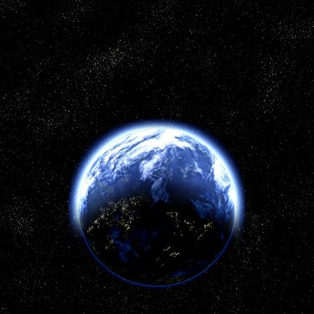 great illustration of earth like planet in space illustration