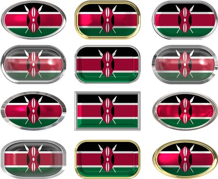twelve Great buttons of the Flag of Kenya Vector