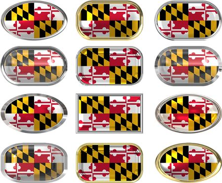 twelve Great buttons of the Flag of Maryland Vector