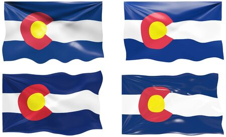 colorado: Great Image of the Flag of Colorado Illustration