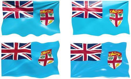 fiji: Grote afbeelding de vlag van Fiji Stock Illustratie