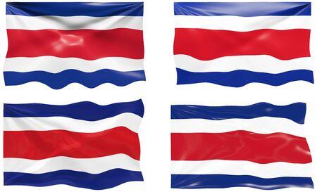 rican: Gran imagen de la bandera de Costa Rica
