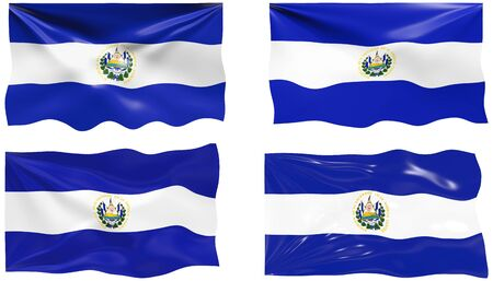 Great Image of the Flag of El Salvador Vector