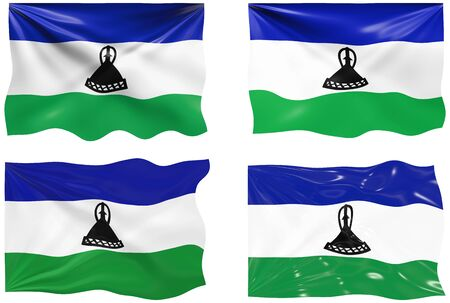 lesotho: Great Image of the Flag of Lesotho