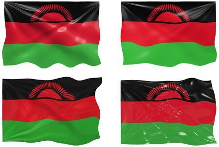malawi: Great Image of the Flag of Malawi Illustration