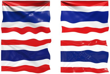 Great Image of the Flag of Thailand Vector