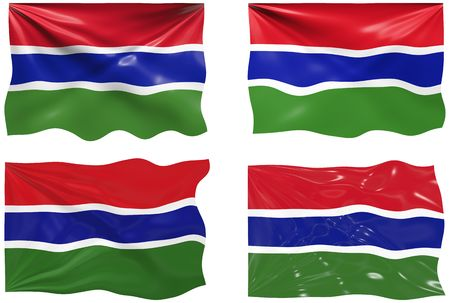 gambia: Great Image of the Flag of Gambia