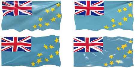 tuvalu: Great Image of the Flag of Tuvalu Illustration