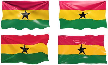 ghana: Grande image du drapeau du Ghana
