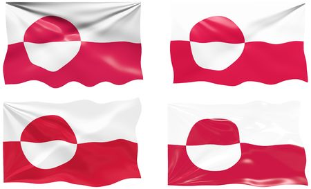 greenland: Great Image of the Flag of Greenland