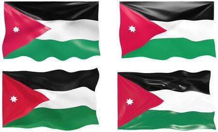 jordanian: Grote afbeelding van de vlag van Jordanië Stock Illustratie