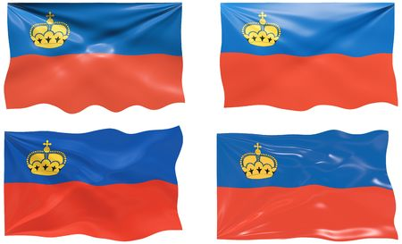 liechtenstein: Great Image of the Flag of liechtenstein Illustration