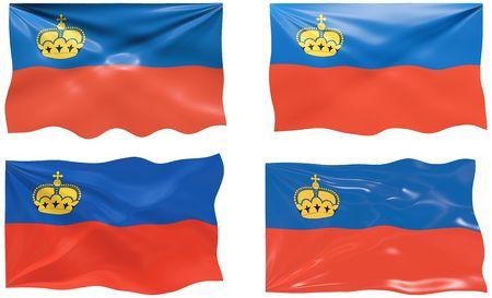 liechtenstein: Great Image of the Flag of liechtenstein Illustration