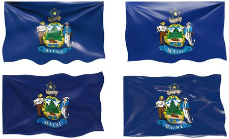 maine: Great Image of the Flag of maine Illustration