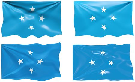 micronesia: Great Image of the Flag of Micronesia