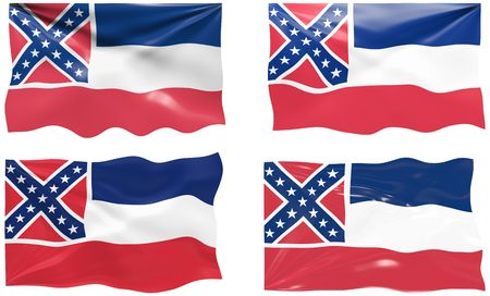 Great Image of the Flag of Mississippi Vector