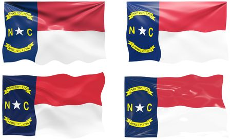 Great Image of the Flag of North Carolina Vector