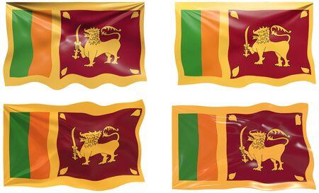 sri: Great Image of the Flag of Sri Lanka