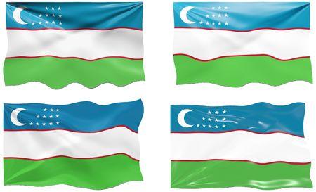 oezbekistan: Grote afbeelding van de vlag van Oezbekistan