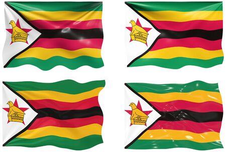 zimbabwe: Gran imagen de la bandera de Zimbabwe