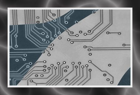 artisitc: great artisitc image of tracks and connections on circuit board